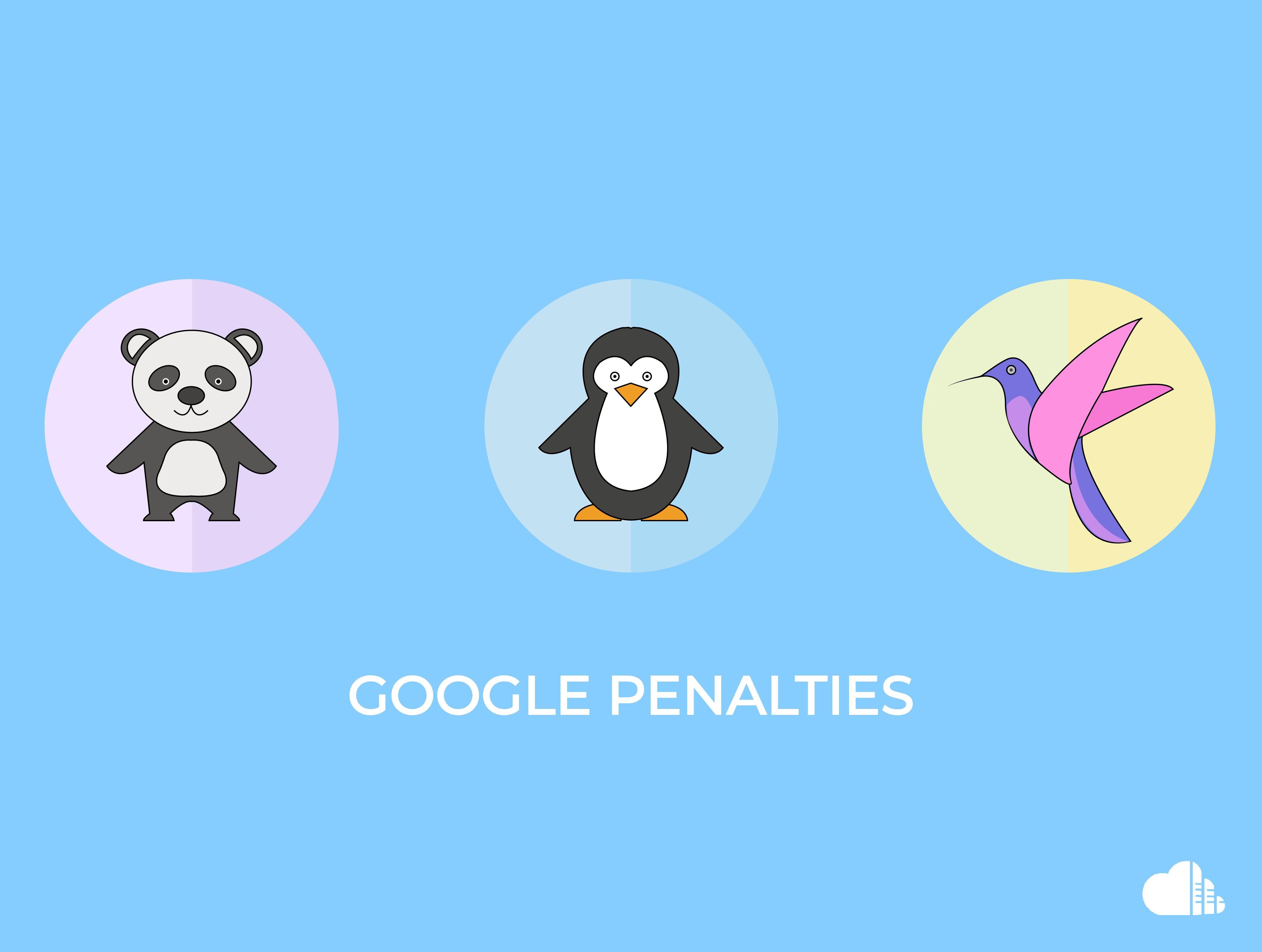 Penalties by Google